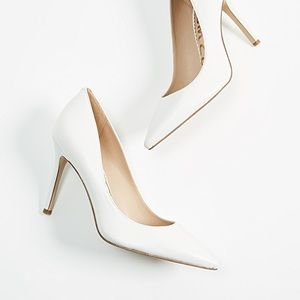 Sam Edelman White Leather Hazel Pump